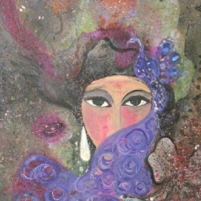 LDBTH:894 - Woman with Purple Veil