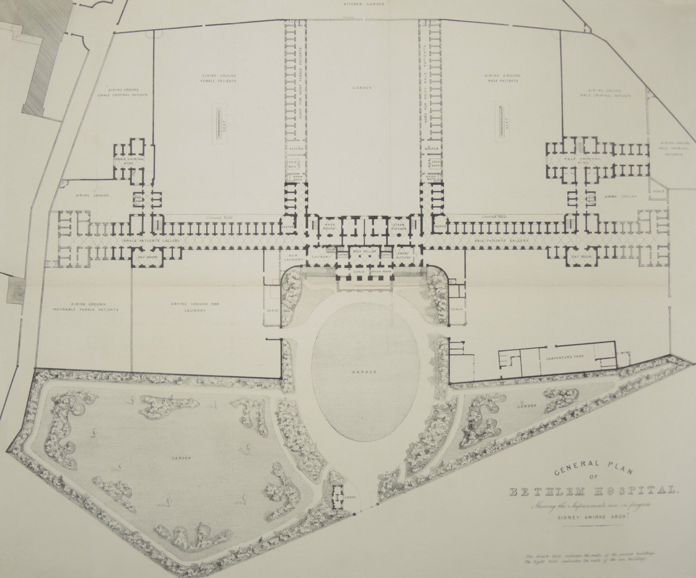 Plan of Bethlem in the late nineteenth century